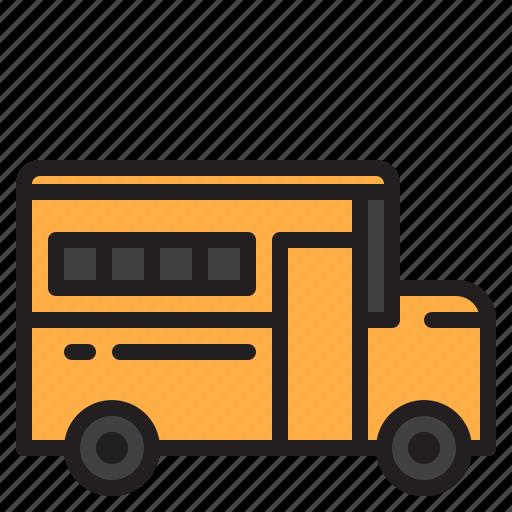 bus, education, learn, school icon