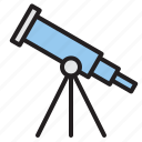 education, learn, school, telescope icon