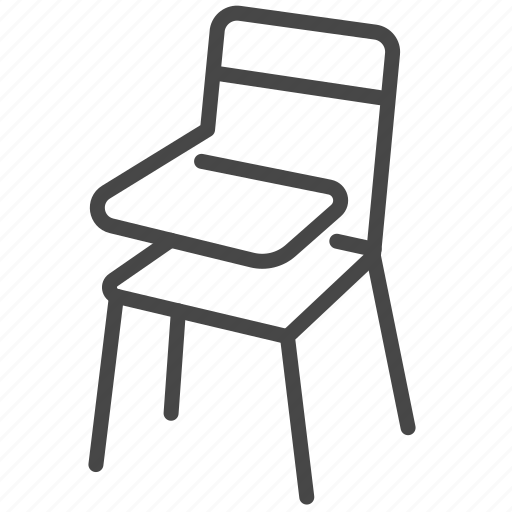 chair, classroom, furniture, lecture chair, school, sit, study icon
