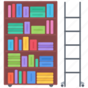 book, college, ladder, library, school, shelf, university
