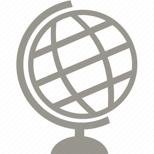 education, geography, globe, school icon