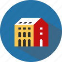 education, institute, knowledge, school, school building, science, university icon