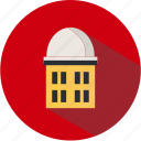 education, institute, knowledge, planetarium, school, science, university icon