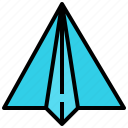 freelance, message, origami, plane icon