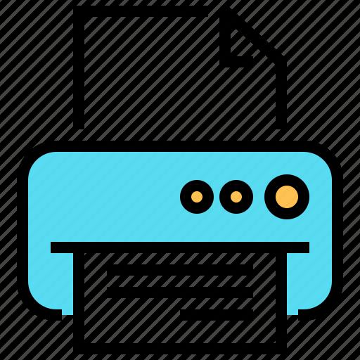 device, document, fax, hardware, print, printer, printing icon