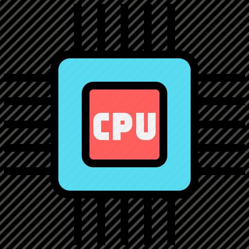 central processing unit, cpu, processor, solution icon