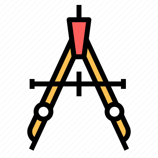 compass, deometry, design, drawing, graphic, precision, tool icon