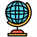 earth, education, geography, globe, planet, school, web icon