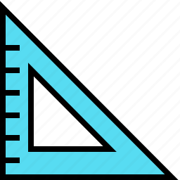 design, draw, geometry, measure, ruler, tool, triangle icon