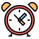 alarm, clock, office, time icon