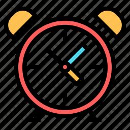 alarm, alarm clock, clock, morning, office, time icon