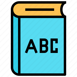 abc, book, education, english book, knowledge, science, study icon
