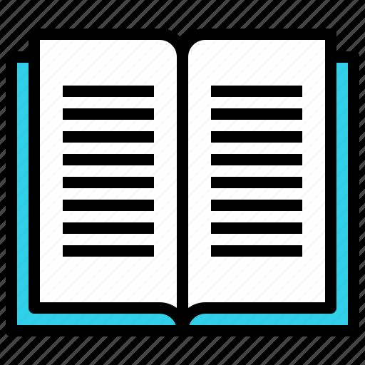 book, bookmark, knowledge, open, read, science, study icon