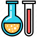 chemistry, experiment, knowledge, lab, laboratory, school, test icon