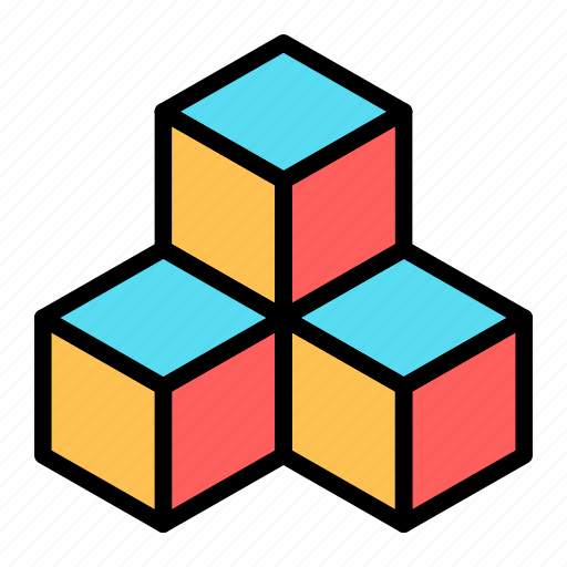 cube, dimension, geometry, prism, scalable, square, system icon