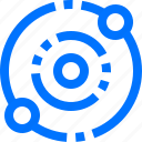 atom, education, reaction, school, science, space, structure icon