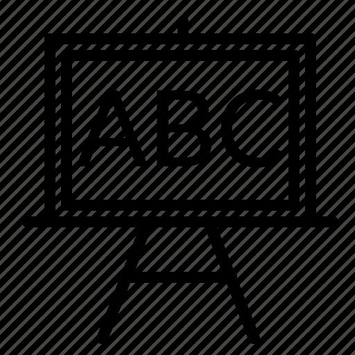 alphabet, blackboard, board, education, school icon