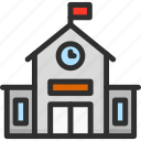 building, education, school, schoolhouse icon