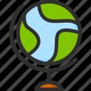 earth, education, geo, geography, globus, school, world icon