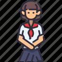 girl, student, female, school, cute icon