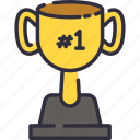 achievement, reward, school, trophy, win icon