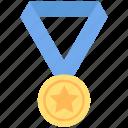 achievement, award, medal, reward, ribbon, star