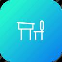 bench, chair, class, education, room, school, study