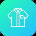 cloth, half, school, sleeve, tshirt, uniform, white