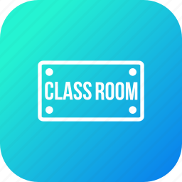 board, class, nameplate, plate, room, school, study icon