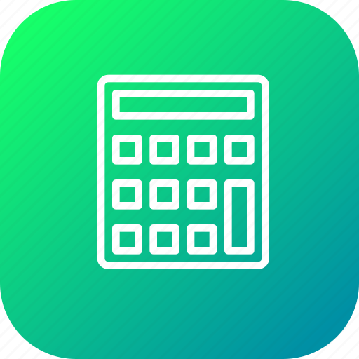calc, calculate, calculater, device, operation, tool icon