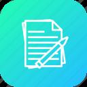 notes, paper, pen, pencil, report, study