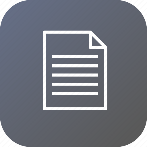 document, education, notes, paper, report, school, study icon