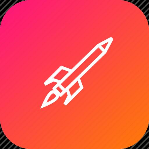 education, launch, pen, pencil, rocket, study icon