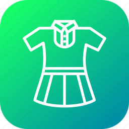 cloth, girl, school, study, uniform icon