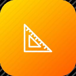 design, geometry, maths, rule, shape, tool, triangle icon