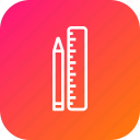 measure, pen, pencile, ruler, scale, sketch, tool icon