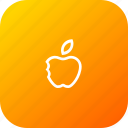 apple, basic, eat, fruit, school, study, teaching icon