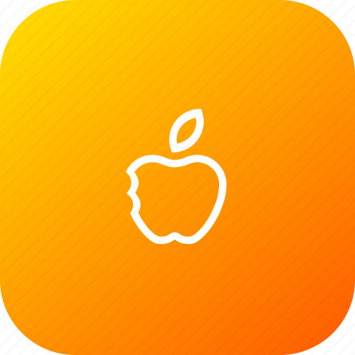 apple, basic, eat, fruit, school, study, teaching icon