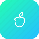 apple, fruit, iphone, school, sign, study, teaching icon