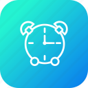 alarm, bell, clock, ring, stop, timer, watch icon
