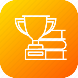 award, badge, book, medal, prize, trophy, winner icon