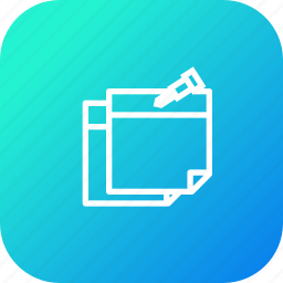 attach, notice, pin, remind, school, stickynotes, study icon