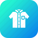 cloth, half, school, sleeve, tshirt, uniform, white icon