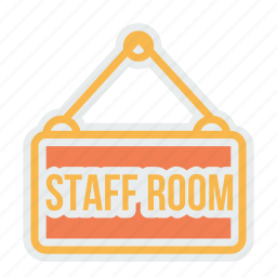 board, nameplate, plate, room, school, staff, study icon