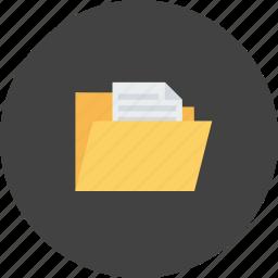 data, document, explorer, file, folder, paper, study icon