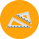 triangle, geometry, tool, rule, shape, design, maths icon