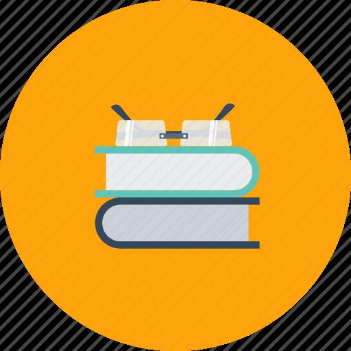 book, education, glass, school, study icon