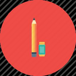 drawing, eraser, pen, pencile, sketch, tool icon