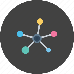 atom, connect, mole, research, science icon