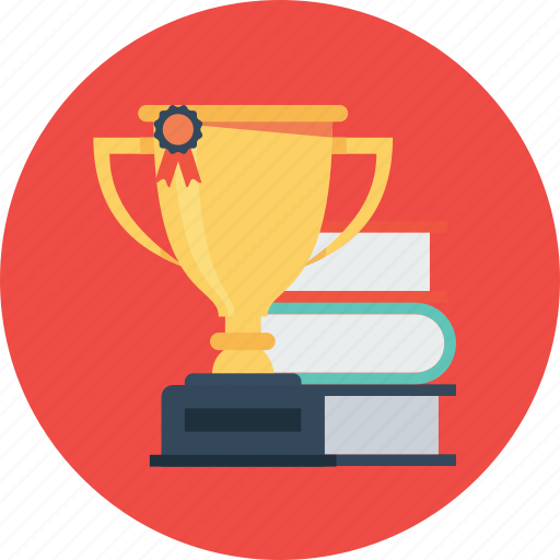 award, badge, book, medal, prize, trophy, winner icon